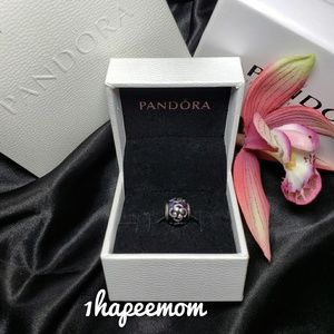 Authentic Pandora Zen Charm purple enamel with box